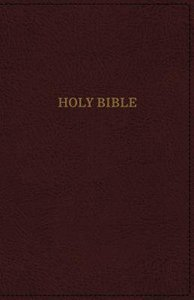 KJV Deluxe Thinline Indexed Reference Bible Burgundy (Red Letter Edition)