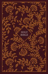 KJV Thinline Reference Bible Burgundy/Orange Red Letter Edition