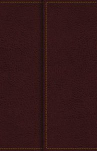 KJV Reference Bible Compact Large Print Snapflap Burgundy Red Letter Edition