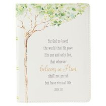 Classic Journal: For God So Loved the World Tree Luxleather (John 3:16)