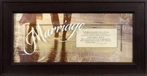 """Framed Plaque: Marriage (8"""" X 16"""") (Words Of Grace)"""