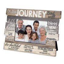 Stacked Wood Frame: On the Journey God Will.... (Various Scriptures)