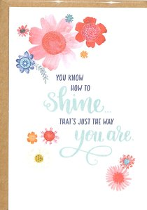 Greeting Card Pack: Shine, Bright Floral, Scripture Inside Cover Matt 13:43 ((In)courage Gift Product Series)