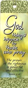 Bookmark With Tassel: God Things Happen
