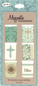 Magnetic Bookmarks Set of 6: Grace & Glory
