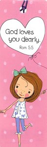 Bookmark With Tassel Holly & Hope: God Loves You Dearly (Pink)