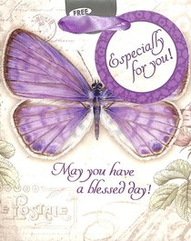 Gift Bag Small: May You Have a Blessed Day Butterfly/Purple