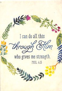 Magnet With a Message: I Can Do All Things...Phil 4:13 (Colored Wreath)