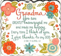 Magnet Flowers For You: Grandma, Gladness Floral Pattern (2 Cor 7:4 & Phil 1:3)