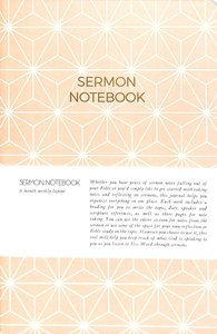 Sermon Notebook:6 Month Weekly Layout (Light Pink Geometric)