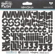 Black Eyed Pea (Black Alphabet) (Illustrated Faith Homespun Alphabet Stickers Series)