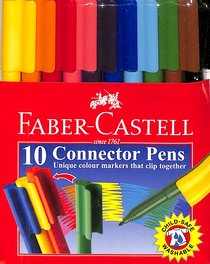 Faber-Castell Connector Pens Markers Wallet of 10