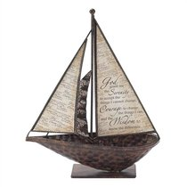 Sailboat Metal Tabletop: Serenity Prayer