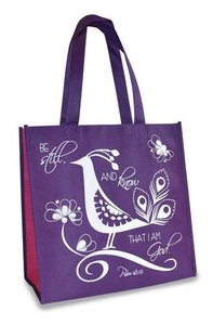 Eco Totes: Be Still, Purple With Hot Pink Sides