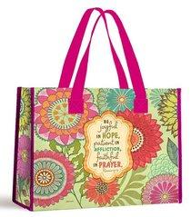 Tote Bag: Be Joyful in Hope... (With Pink Handles)