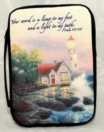 Bible Cover Thomas Kinkade Xlarge Beacon of Hope Lighthouse Navy