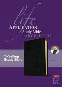 NKJV Life Application Study Bible Large Print Indexed Black (Red Letter Edition)