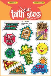 Inspirational Motto (6 Sheets, 60 Stickers) (Stickers Faith That Sticks Series)