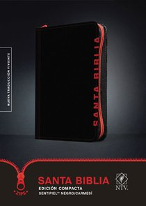 Ntv Santa Biblia Edicion Compacta Black/Crimson With Zipper (Black Letter Edition)