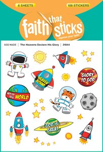 The Heavens Declare His Glory (6 Sheets, 108 Stickers) (Stickers Faith That Sticks Series)