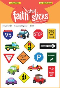 Heavens Highway (6 Sheets, 102 Stickers) (Stickers Faith That Sticks Series)