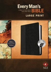 NLT Every Mans Bible Large Print Black/Onyx Indexed