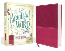 NIV Beautiful Word Bible Large Print Pink (Black Letter Edition)