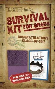 NKJV 2017 Survival Kit For Grads Girls Edition Purple Red Letter Edition