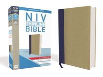 NIV Thinline Bible Large Print Blue/Tan (Red Letter Edition)