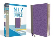 NIV Thinline Bible Giant Print Gray/Purple Red Letter Edition
