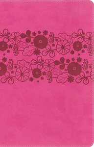 NIRV Large Print Holy Bible Pink Flowers (Black Letter Edition)