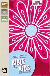 KJV Bible For Kids Pink Thinline Edition (Red Letter Edition)
