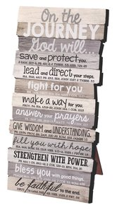Stacked Wood Plaque: Journey, Small (Various Scriptures)