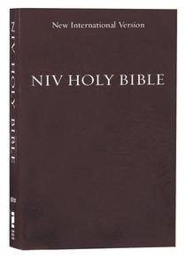 NIV Holy Bible Compact Burgundy (Black Letter Edition)