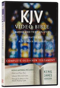 KJV Video Bible Narrated By Alexander Scourby (Audio And Text On Dvd Voice Only)
