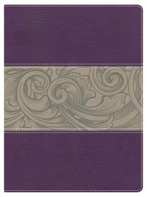 NKJV Holman Study Bible Eggplant/Tan Indexed