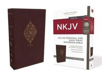 NKJV Deluxe Reference Bible Personal Size Giant Print Burgundy (Red Letter Edition)