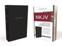 NKJV Reference Bible Giant Print Black (Red Letter Edition)