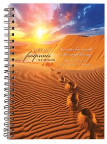 Spiral Hardcover Journal: Footprints