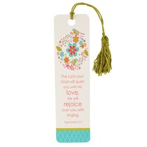 Bookmark With Tassel: The Lord Your God Will Quiet You With His Love