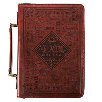 Bible Cover Classic Large: Words of God, Dark Brown Luxleather
