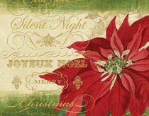 Christmas Boxed Cards: Silent Night Poinsettia, Scripture