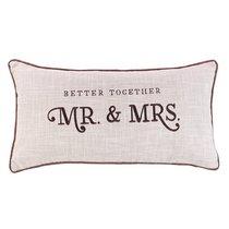 Oblong Pillow: Mr & Mrs Better Together