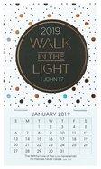 2019 Mini Magnetic Calendar: Walk in the Light