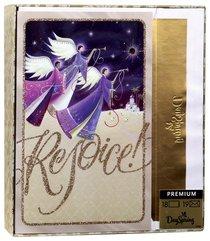 Christmas Premium Boxed Cards: Rejoice Angels (Luke 2:10 Kjv)