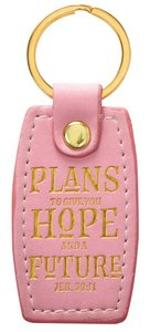 Luxleather Keyring: Plans to Give You Hope and a Future, Peach (Jer 29:11)