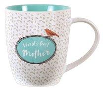 Ceramic Mug: Worlds Best Mother (Turquoise/white)