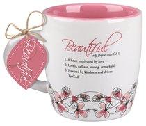 Ceramic Mug Creative Definition: Beautiful, Dark Pink/White (Ephesians 2:10)