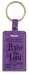 Leather Lux Keyring: Praise the Lord, Psalm 150:6