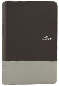 NIV Couples Devotional Bible Chocolate/Silver (Black Letter Edition)